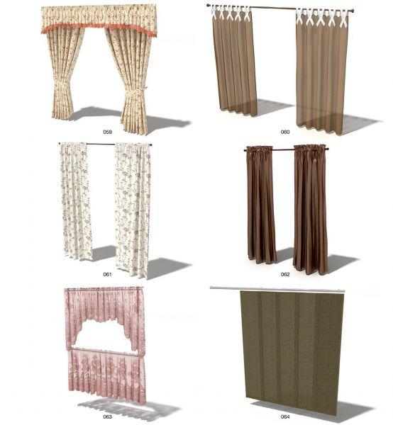 Các loại rèm vải xếp có kết cấu phức tạp hơn