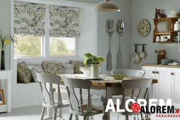 Gợi ý các loại rèm cửa đẹp và phù hợp với phòng bếp